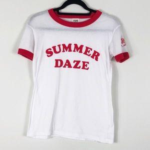 PINK Summer Daze Ringer Graphic Tee XS